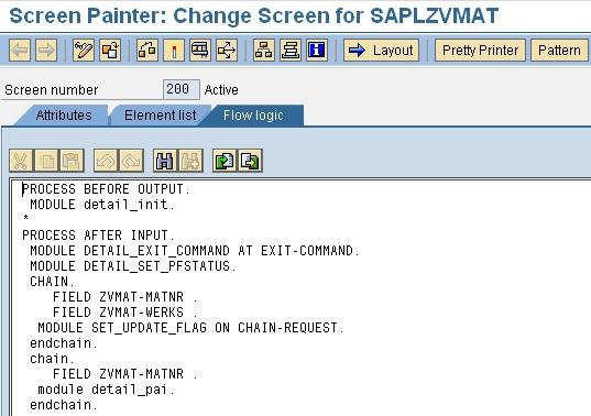 SAP table maintenance generator